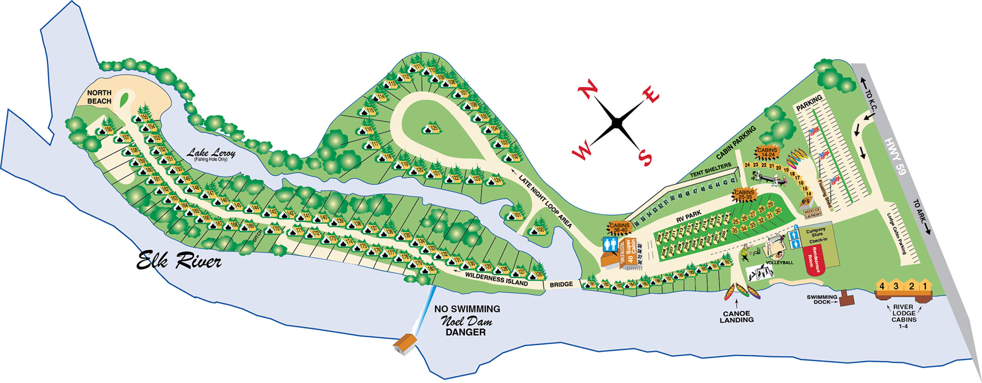 river ranch resort site map 2016