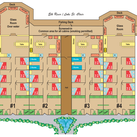 River Lodge Cabins Layout